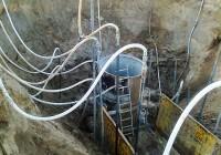 Siurblinės montavimas. Gruntinio vandens pažeminimas